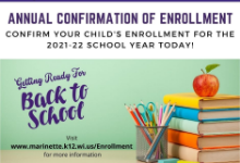 Confirm Your Child's Enrollment for 2021-22