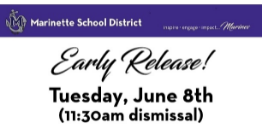 June 8th: Last Day of School