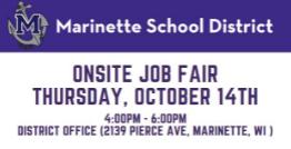 Onsite Job Fair October 14th, 4pm - 6pm