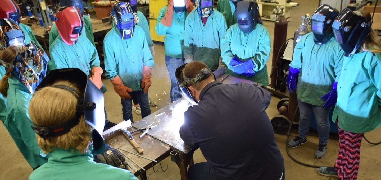 High School Welding Class
