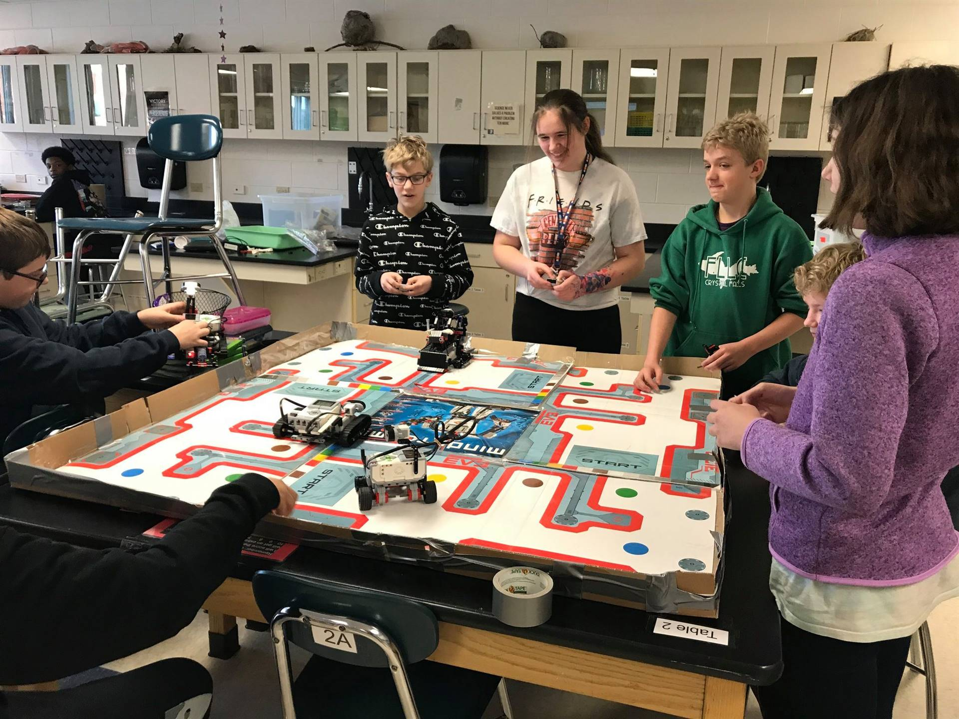 Students with Mindstorm Robots