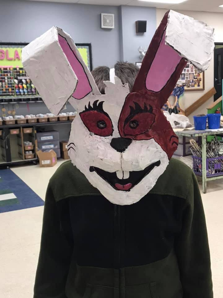 Student with Rabbit Mask